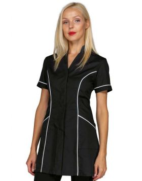 Rio Nero + Bianco women's tunic with Korean collar | Isacco | Divise & Divise
