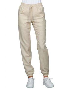 Pantalone Lino uomo donna con laccio e elastico alle caviglie