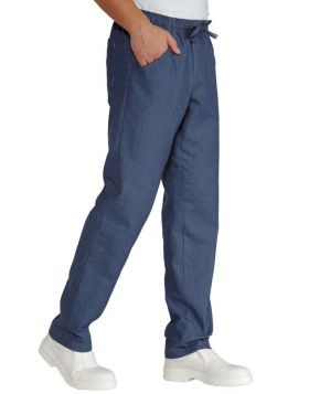Pantalone light Jeans stretch unisex con laccio