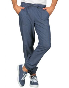 Pantalone light Jeans stretch uomo donna con laccio
