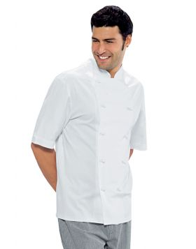 Chef jacket Enrica Isacco SHORT SLEEVE WHITE