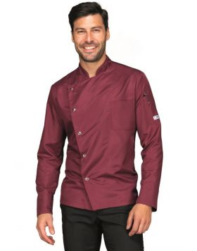 GIACCA BELFAST SUPERDRY BORDEAUX+NERO