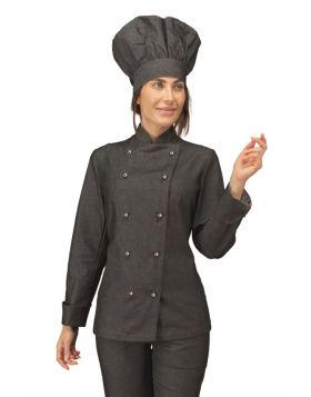 Chef jacket Lady BLACK JEANS