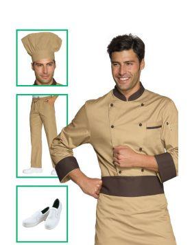 Chef uniform - biscuit and dark jacket