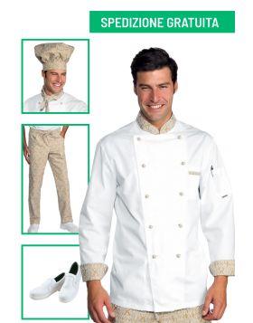 Divise cuoco completa - Giacca e pantalone maori  95