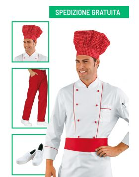 Divise cuoco completa - Giacca Red Chef