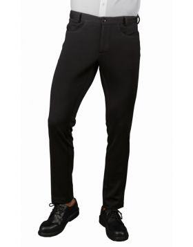 PANTALONE ISACCO UOMO YALE SLIM SUPER STRETCH NERO