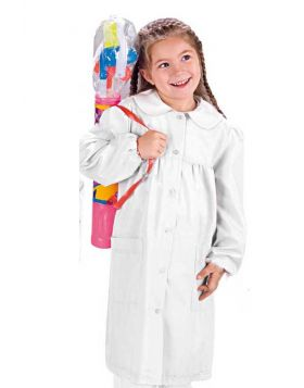 School apron Pollicino White POLYESTER/COTTON