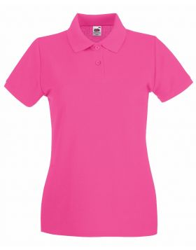 POLO PREMIUM LADY FIT FRUIT OF THE LOOM MANICA CORTA VARI COLORI