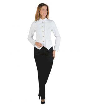 Hotel uniform Hall Women - pants and Jacket White