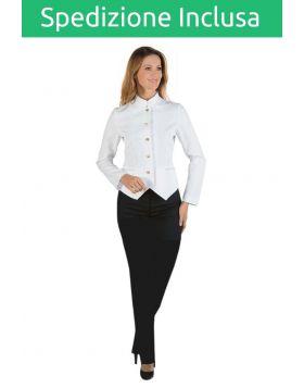 Divisa Scuola Alberghiera Sala Donna - Pantalone e Giacca Bianca