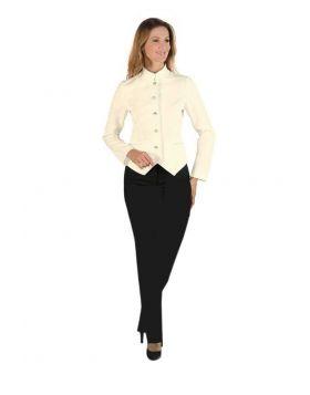 Hotel uniform Hall Women - pants and Jacket Cream