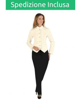 Divisa Scuola Alberghiera Sala Donna - Pantalone e Giacca Panna