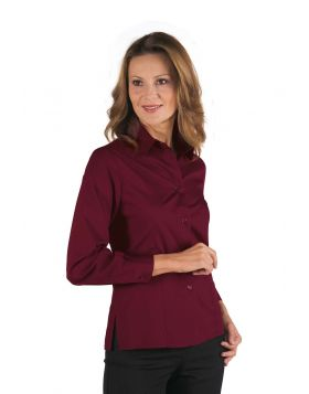 CAMICIA HOSTESS KYOTO BORDEAUX MANICA LUNGA
