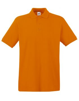 POLO PREMIUM FRUIT OF THE LOOM MANICA CORTA ARANCIONE  COD 44