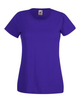 T-SHIRT DONNA FRUIT OF THE LOOM VALUEWEIGHT LADY FIT VARI COLORI