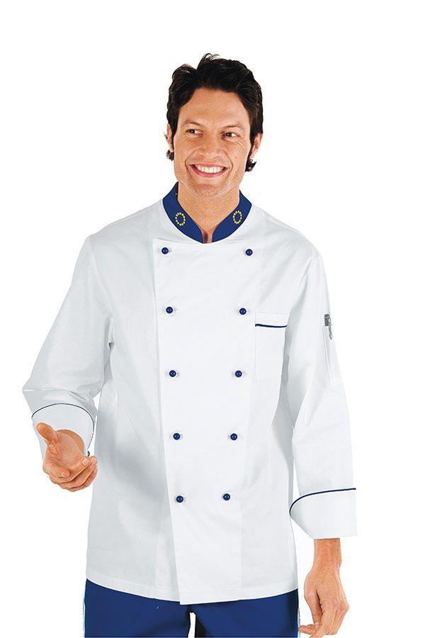 giacca cuoco blu napoli