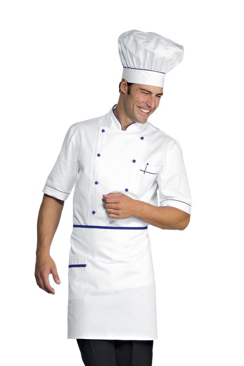 size 40 137fe 0a2ac giacca cuoco alicante bianca e blu cina