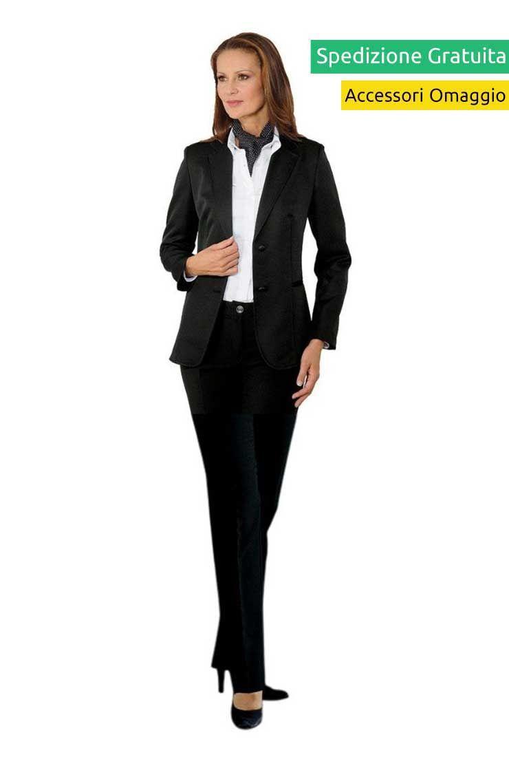 pretty nice d3e32 4dd5b divisa scuola alberghiera reception donna - giacca nera